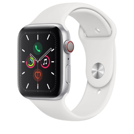 Apple - Watch Series 5 GPS + Cellular 40mm Silver