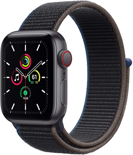 Apple Watch SE, 44mm Space Gray With Sport