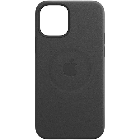 Apple Custodia in pelle per iPhone con MagSafe - iPhone 12 | 12 Pro Leather Case with MagSafe - Black