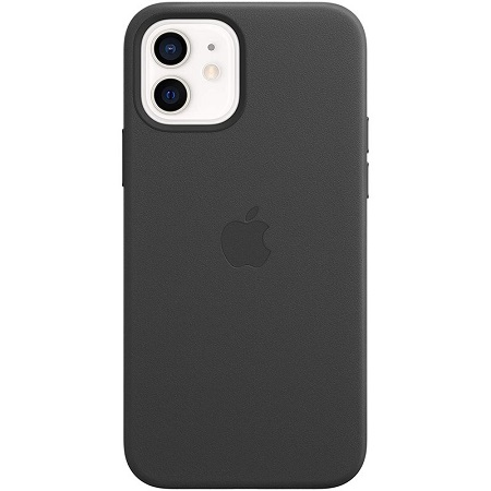 Apple - iPhone 12 | 12 Pro Leather Case with MagSafe - Black