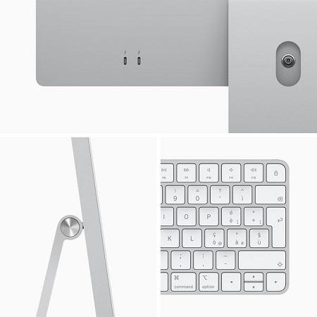 "APPLE iMac 24"" 256GB 8 CPU 7 GPU Argento MGTF3T/A 2021"
