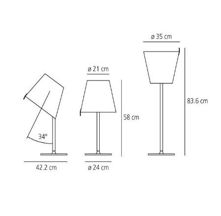 Artemide Lampada da tavolo - MELAMPO TAVOLO BRONZO 0315020a