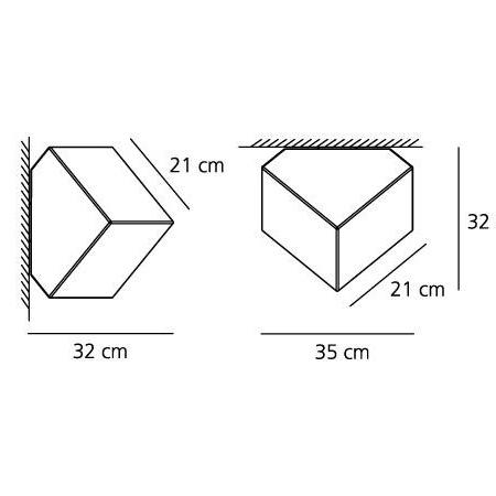 Artemide Lampada da parete o soffitto - EDGE 21 PTE/PLAF BIANCO 1292010a