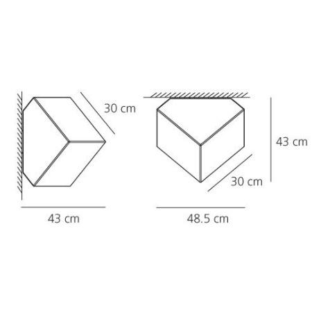 Artemide Lampada da parete o soffitto - EDGE 30 PTE/PLAF BIANCO 1293010a