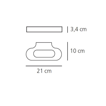 Artemide Lampada da parete - Lampada da Parete - Talo Led 20W 3000k Bianco - 0615010A