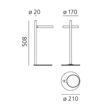 Artemide Lampada da tavolo - IPPARCO TAVOLO LED NERO 1607010a