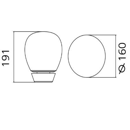 Artemide Lampada da tavolo - Empatia 16 Tavolo 1813010a