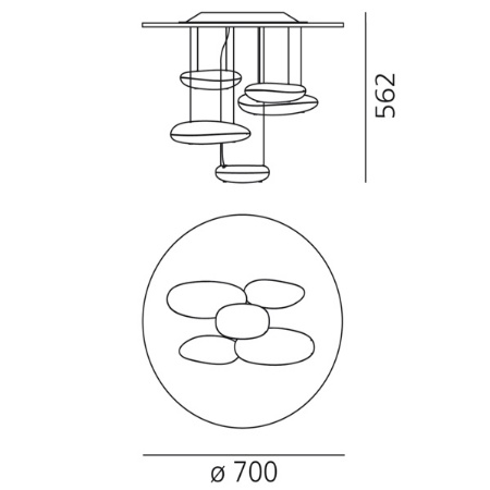 Artemide Lampada a sospensione - MERCURY MINI SOFF.LED INOX 1476110a