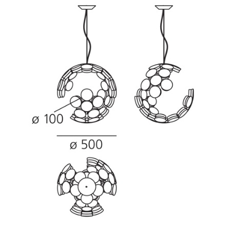 Artemide Lampada a sospensione - Scopas S Led 1529010a