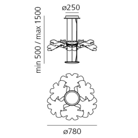 Artemide Lampada a sospensione - Lampada a sospensione - CHLOROPHILIA LED S CROMO 1628010A