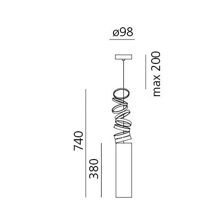 Artemide Lampada a sospensione - DECOMPOSE' LIGHT SOSPENSIONE FUME' Doi4600a80