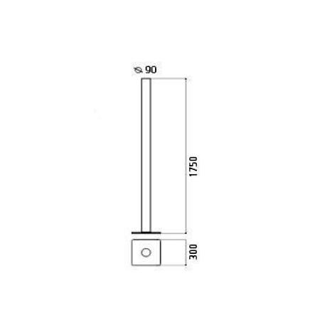 Artemide Lampada da terra - ILIO LED F NERO LUCIDO 1640030a