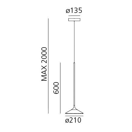 Artemide Lampada a sospensione - ORSA 21 S NRO 0351030a