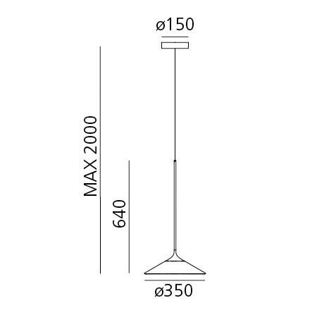 Artemide Lampada a sospensione - ORSA 35 S NRO 0352030A