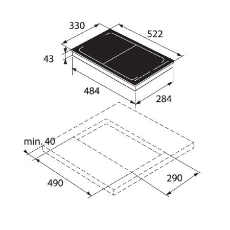 Asko Piano Domino a induzione 33 cm - HI 1355 G