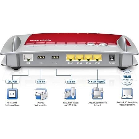 Avm Modem / Router ADSL2+ WiFi - Fritz!box 3390