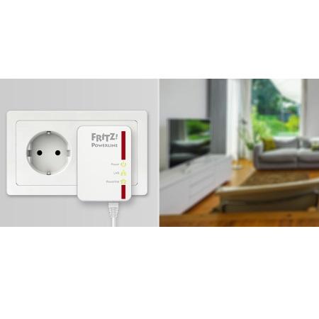 FRITZ! Powerline 510E Set Estende la rete domestica attraverso la linea elettrica di casa