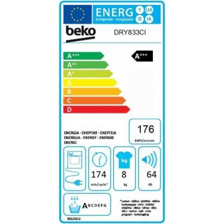 Beko Asciugatrice a condensazione - Dry833ci
