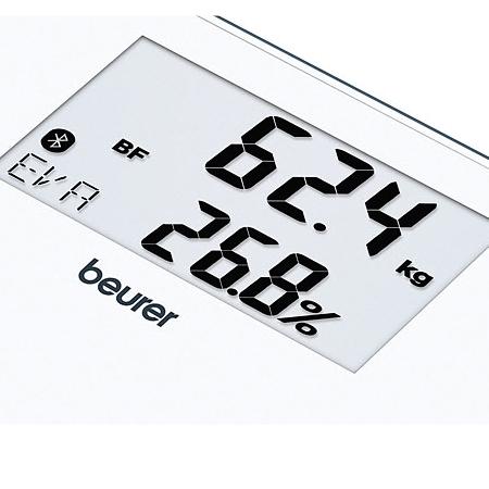 Beurer Sensore di attività +Bilancia diagnostica Smart - Bodyshape Turchese Bilancia Bf710 + Fitness Watch As81 Turchese