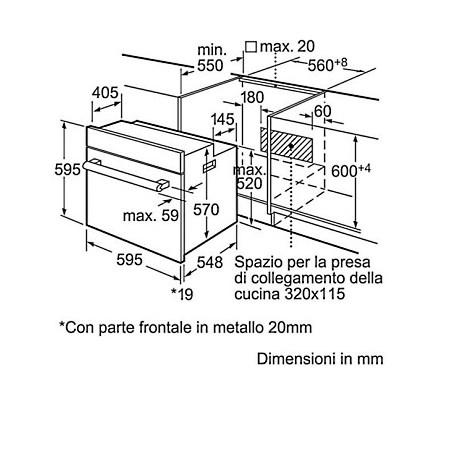 Bosch Forno elettrico 2800 w - Hbn211e0j