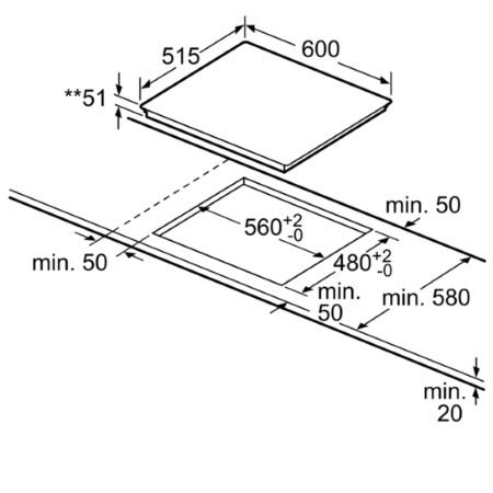 Bosch Piano cottura a induzione - Pie611b10j
