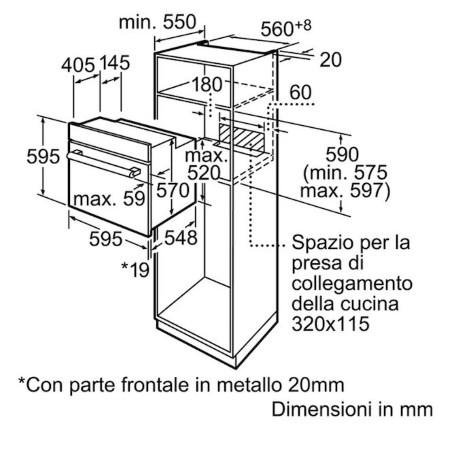 Bosch Forno ad incasso - HBA43T351