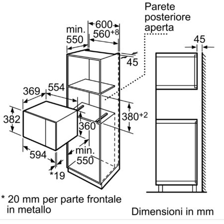 Bosch Microonde da incasso - HMT84M624