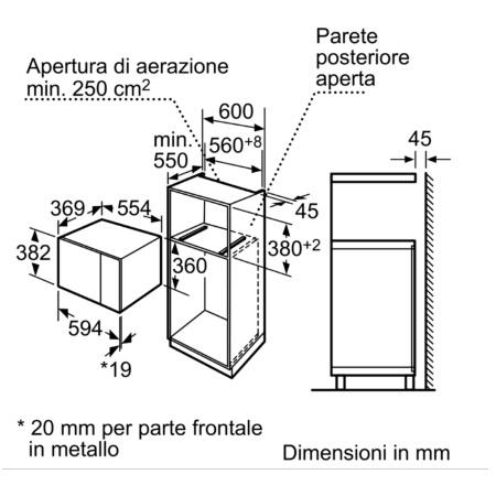 Bosch Microonde da incasso - HMT84M664