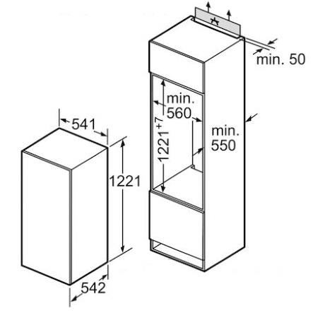 Bosch Frigorifero monoporta da incasso - Kil24x30