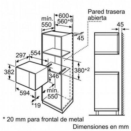 Bosch M/o grill incassostatico - Hmt75g654