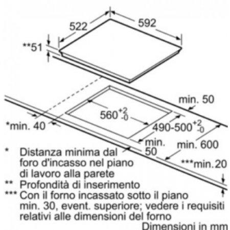 Bosch Piano cottura ad induzione - Pue612ff1j