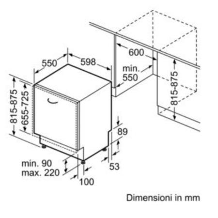 Bosch Lavastoviglie incasso 14 coperti - Smv68mx03e