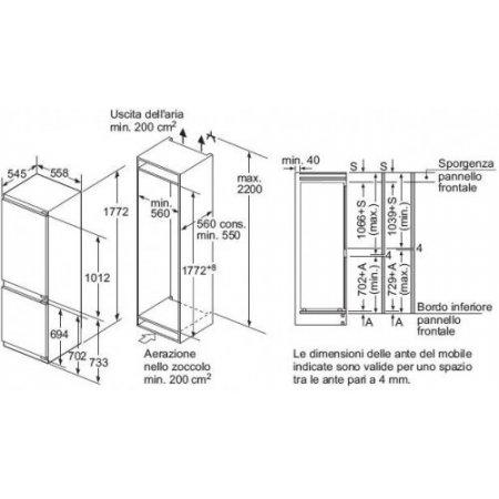 Bosch Frigo combinato 2p incasso - Kin86af30f