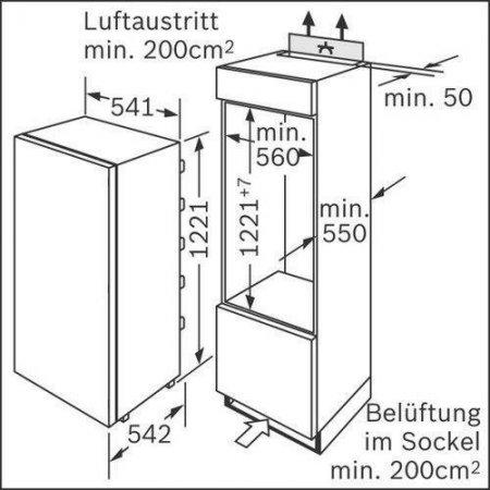 Bosch Frigo 1p incasso - Kir41af30