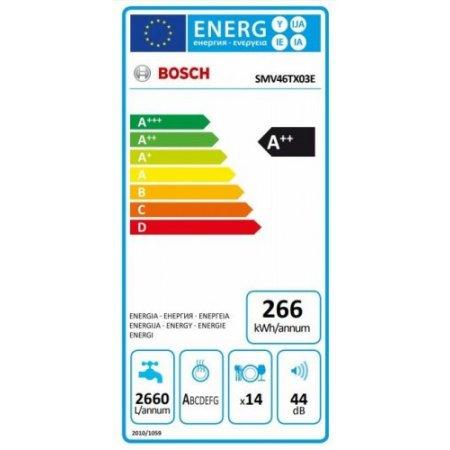 Bosch Lavastoviglie incasso 14 coperti - Smv46tx03e