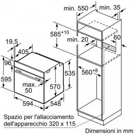 Bosch Forno elettrico 2900 w - Hba314br0j