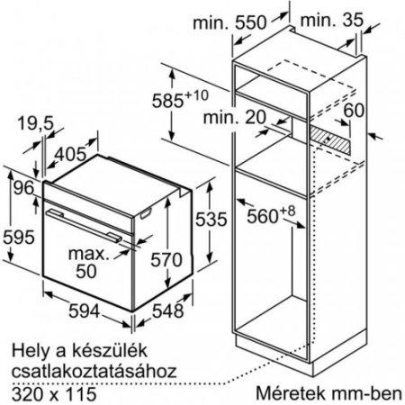 Bosch Forno elettrico 3400 w - Hba534bw0