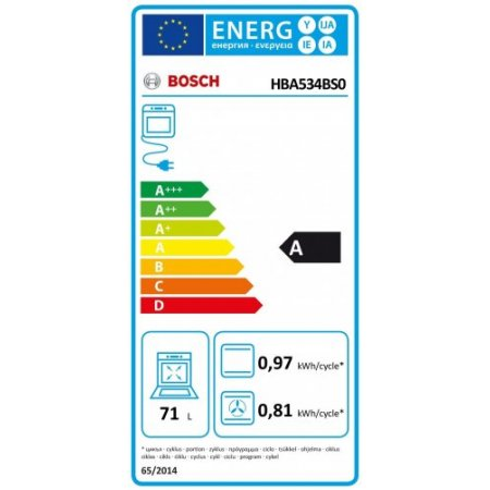 Bosch Forno elettrico 3400 w - Hba534bs0
