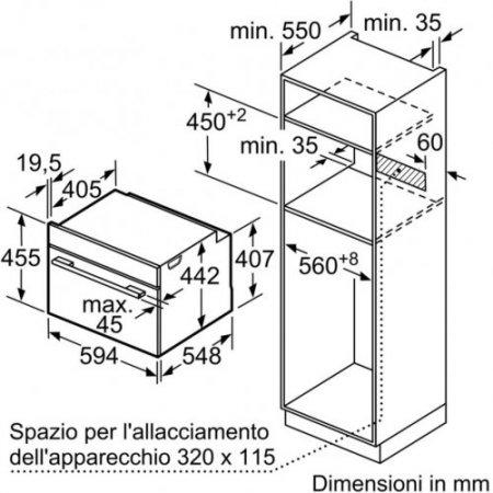 Bosch Forno elettrico 2990 w - Cbg633ns1