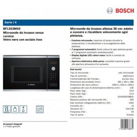 Bosch M/o incasso 900 watt - Bfl553ms0