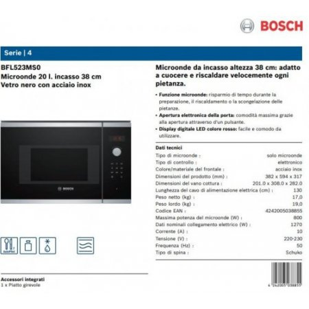 Bosch M/o incasso 800 watt - Bfl523ms0