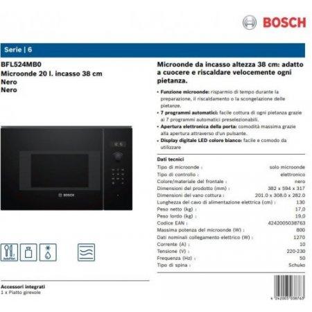 Bosch M/o incasso 800 watt - Bfl524mb0