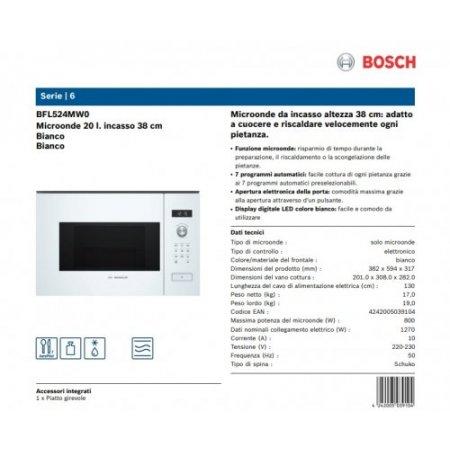 Bosch M/o incasso 800 watt - Bfl524mw0