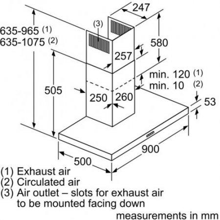 Bosch Cappa a parete - Dwb96dm50