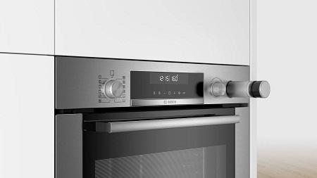 Bosch Cottura a vapore: con l'aggiunta di vapore si ottengono risultati perfetti di cottura interna mantenendo la parte esterna croccante - Hra318bs1
