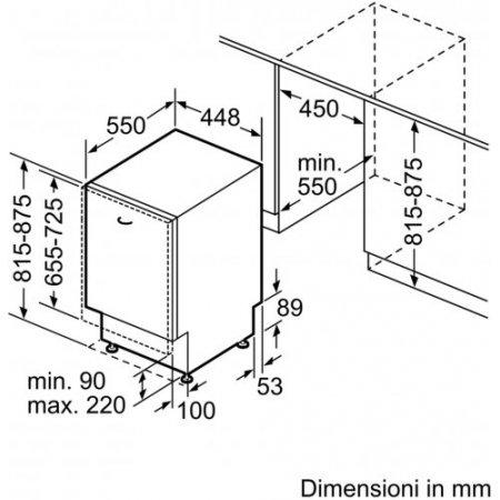 Bosch Lavastoviglie incasso 9 coperti - Spv2hkx39e