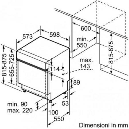 Bosch Lavastoviglie incasso 14 coperti - Smi4hcs52e