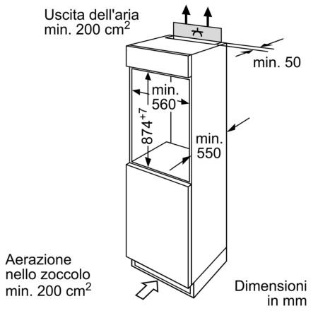 Bosch Freezer con 4 cassetti trasparenti - Serie 4 Congelatore integrabile - Gid 18 A20