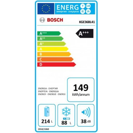 Bosch Frigo combinato 2 porteventilato - Kge36bl41