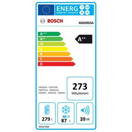 Bosch Frigorifero combinato - Vario Style Kgn39ij3a +Pannello Coffee Brown